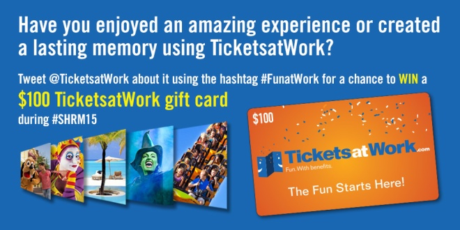 TicketsatWork Gift Card SHRM Sweepstakes