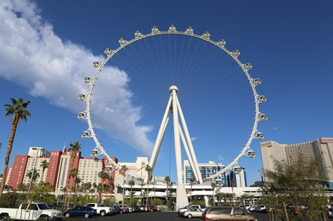 Take a break and see the sights from 550-feet in the air on the High Roller.
