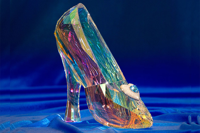 Cinderella's glass slippers with diamonds are just one of the prizes guests can win.