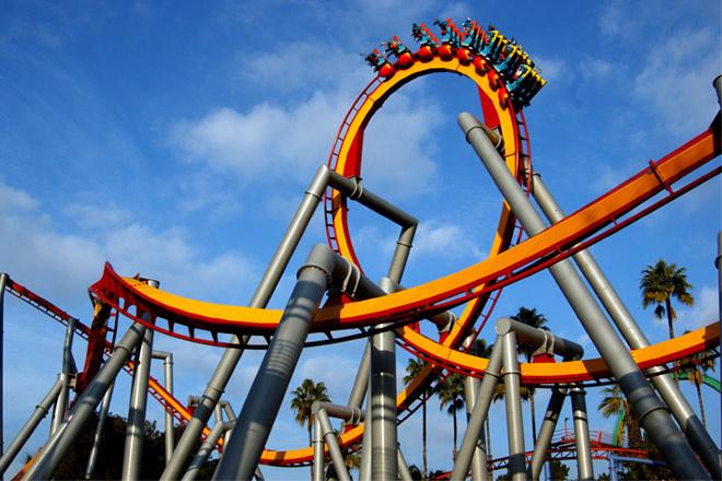 Knott's Berry Farm Silver Bullet roller coaster