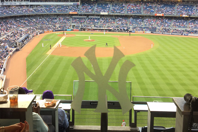The view of Yankee stadium during the Tickets at Work event