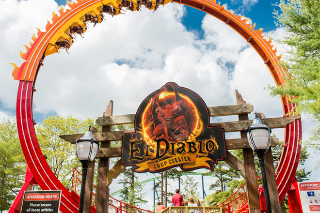 El Diablo, standing 7 stories high, is the latest thrill ride to open at Six Flags Great Adventure.