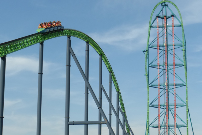 Kingda Ka is one of the tallest and fastest roller coasters in North America.