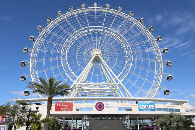 The Orlando Eye stands 400-feet high, giving perfect views of Orlando