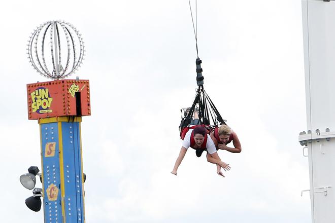 Enjoy a free SkyCoaster Flight when you visit Fun Spot now through October 31