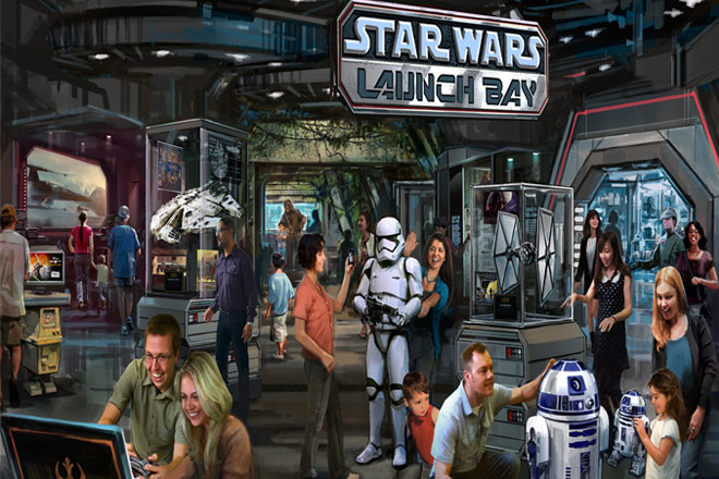 Star Wars Launch Bay will offer exclusive exhibits and sneak peeks to upcoming films