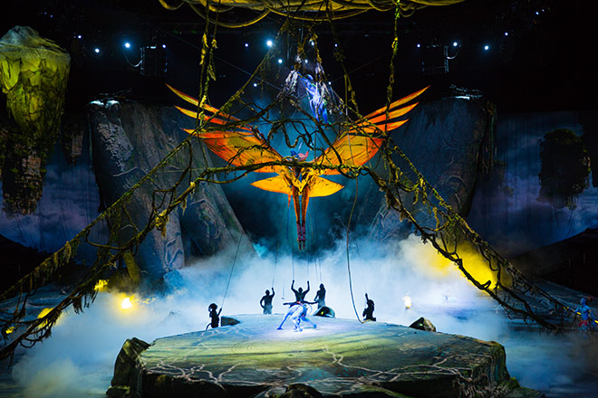 Toruk – The First Flight will be sure to amaze with large scale sets and performances
