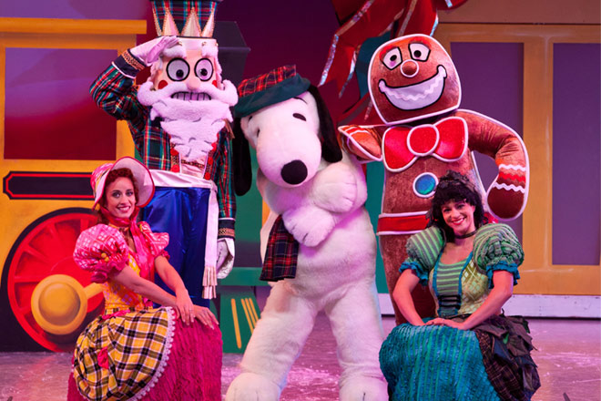 Snoopy and his pals celebrate at Knott's Merry Farm
