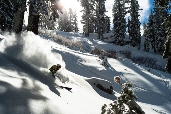 The fresh snow at Sierra-at-Tahoe is a skier's paradise – Photo Courtesy of Sierra-at-Tahoe