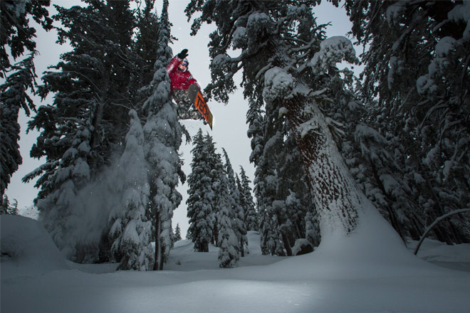 Fresh snow means big air at Sierra-at-Tahoe – Photo Courtesy of Sierra-at-Tahoe