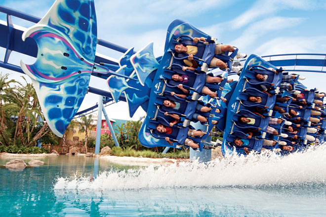 With discount tickets to SeaWorld Orlando, be sure to ride Manta!