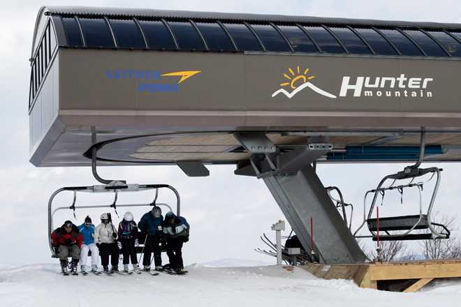 Hunter Mountain ski lift – Photo courtesy of Sourced Adventures