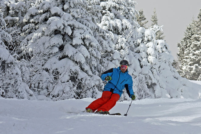 Skiers will enjoy the various trails at Stowe Mountain