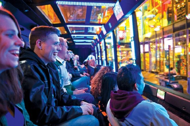 "Discover NYC on ""The Ride"" Bus Tour with discount tickets from TicketsatWork.com and be prepared to ride in style!"