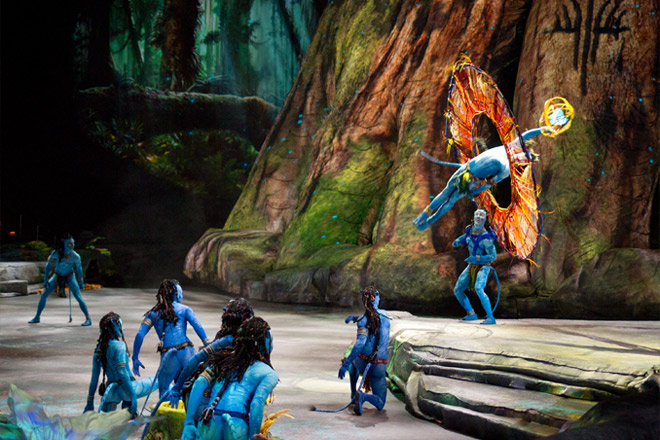 Toruk – The First Flight incorporates the Cirque style with Avatar