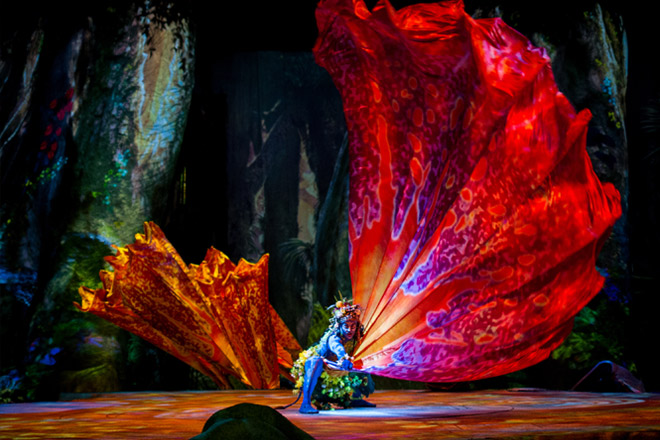 Toruk – The First Flight is a stunning display in Cirque style