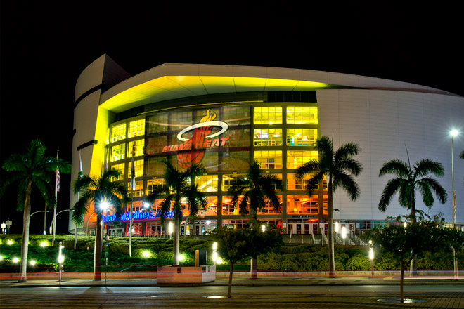 The American Airlines Arena is the perfect location to enjoy a night of basketball