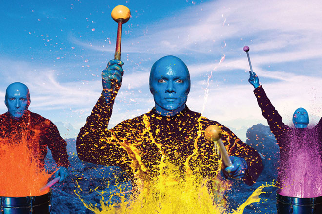 See the Blue Man Group as they perform in New York this April and May