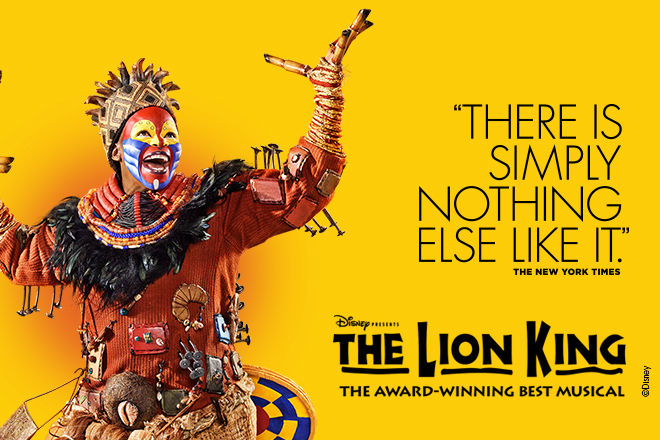 The Lion King is one of the most popular Broadway shows you can enjoy now!