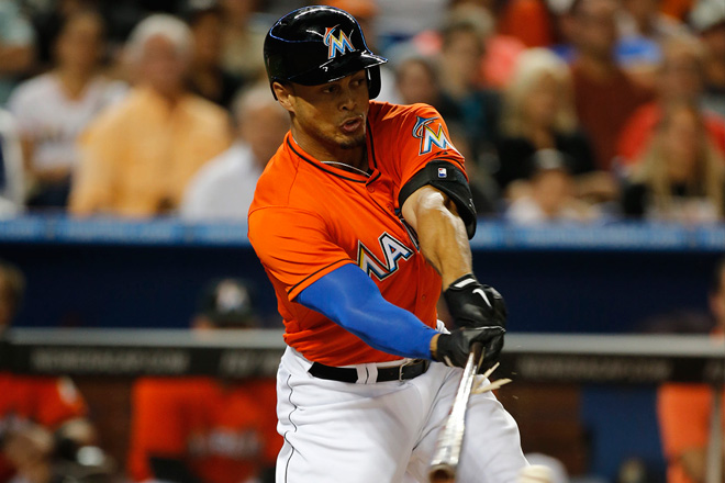 Watch Giancarlo Stanton as he leads the Miami Marlins in the new season