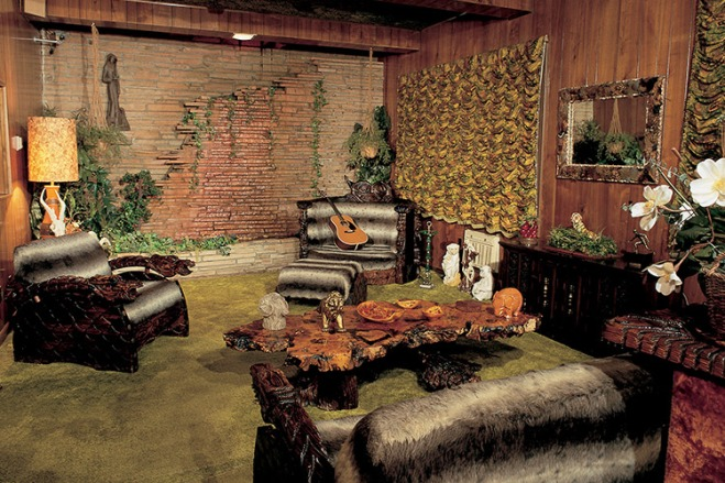 Explore the Jungle Room inside the Graceland Mansion with TicketsatWork.com