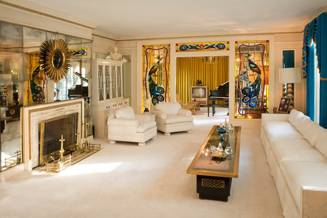 Get an inside look at Elvis' Living Room on the Graceland Tour.