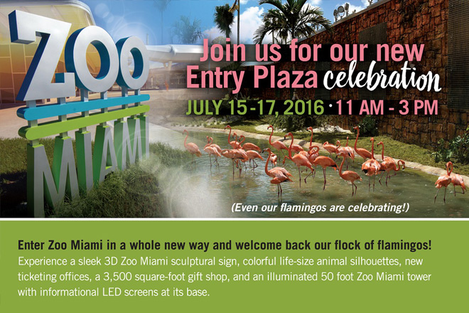 Visit Zoo Miami this weekend to celebrate the opening of the new entry plaza