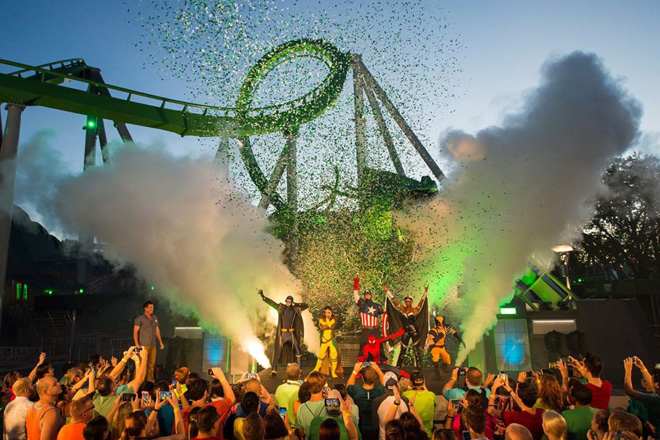 Incredible Hulk Coaster has roared back to life in Islands of Adventure