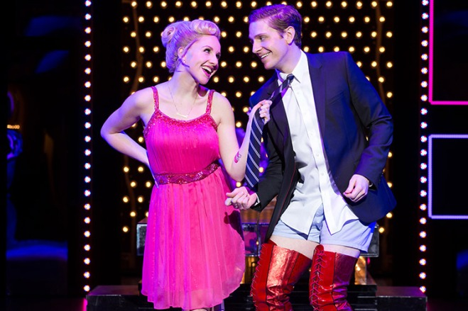 Catch Jeanna de Waal and Andy Kelso in Kinky Boots on Broadway with discount tickets from TicketsatWork.com. Photo by Matthew Murphy