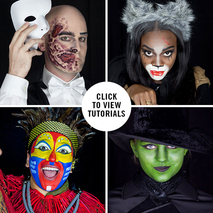 ... makeup tutorials for a gaggle of Broadwayu0027s hottest shows now playing in New York City The Phantom of the Opera Cats Wicked and The Lion King.  sc 1 st  Entertainment Benefits Group & Halloween Makeup Tutorials for Lion King Wicked Phantom of the ...