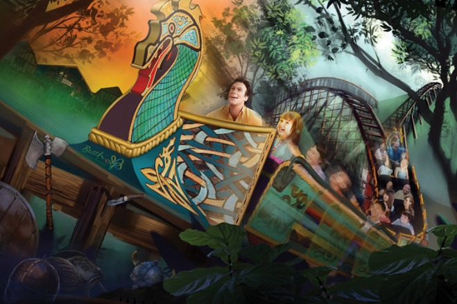 InvadR will join other thrill rides at Busch Gardens Williamsburg in Spring 2017.