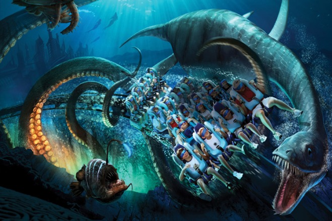 Kraken Virtual Reality roller coaster will rush into SeaWorld Orlando summer of 2017.
