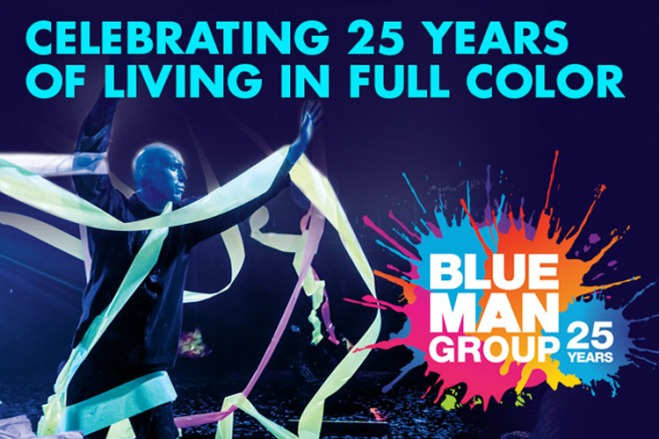 Join in on Blue Man Group's 25th Anniversary celebration with savings at TicketsatWork.com.