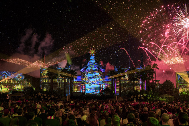 Experience Jingle Bell Jingle Bam at Disney's Hollywood Studios when you save on Walt Disney World tickets and get 2 days free at TicketsatWork.com!