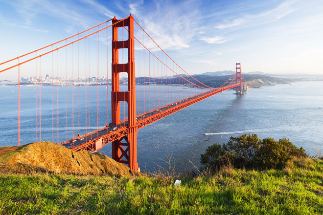 San Francisco's icon is the Golden Gate Bridge (Photo: Getty)
