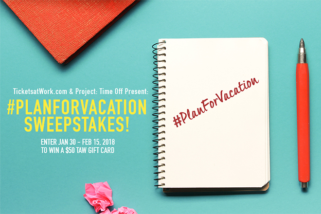 #PlanforVacation Sweepstakes!