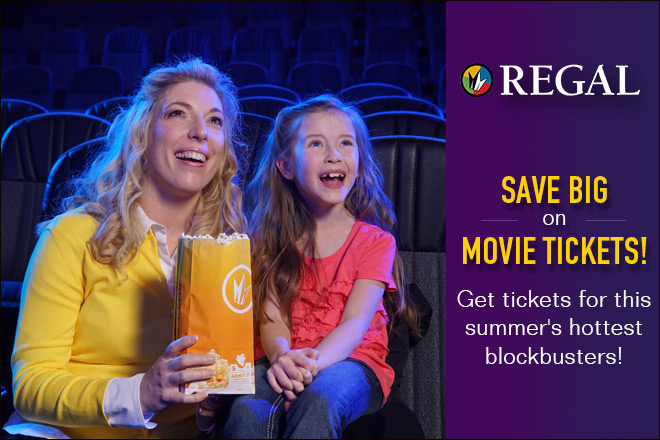 Discount Regal Movie Tickets at TicketsatWork.com