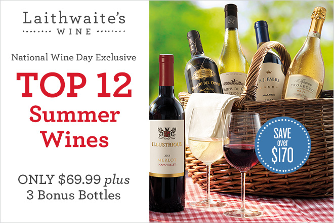 National Wine Day Exclusive - Top 12 Summer Wines at TicketsatWork.com