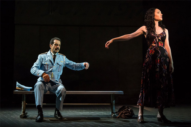 Tony Shalhoub and Katrina Lenk in Tony Winning musical 'The Band's Visit' (Photo: Matthew Murphy)