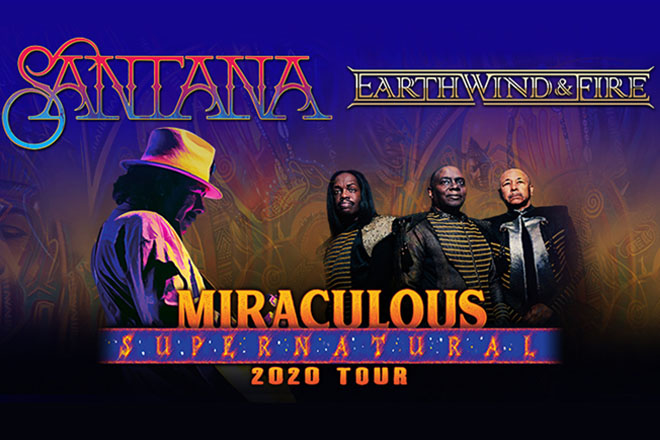 Santana and Earth, Wind & Fire Embark on 'Miraculous Supernatural 2020 Tour' – Save Over 50% at TicketsatWork!